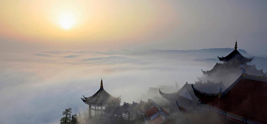长宁双河桂花湖风景图片
